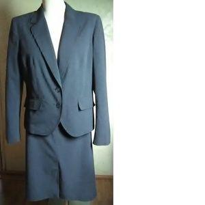 Worthington Dark Gray Stretch Blazer Size 14/12